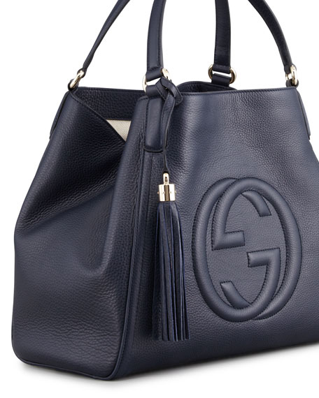 Gucci Soho Medium Shoulder Bag, Dark Navy