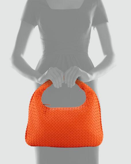 Intrecciato Medium Hobo Bag, Tangerine