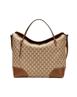 Gucci Bree Original GG Canvas Large Tote Bag, Beige