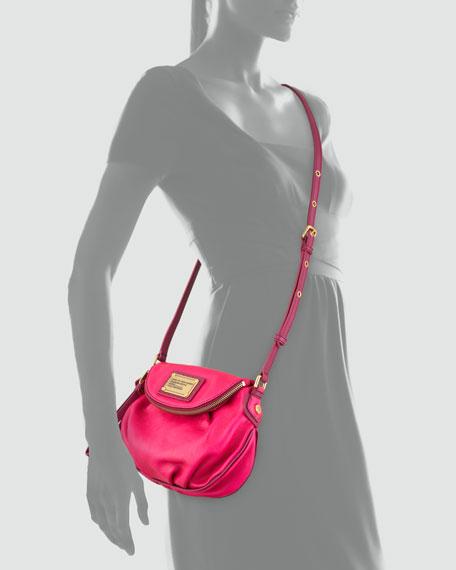 Natasha Mini Tonal Crossbody Bag, Pop Pink