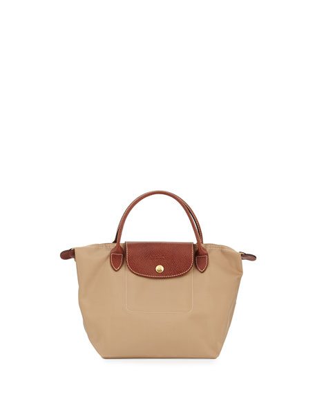 Le Pliage Small Handbag, Beige