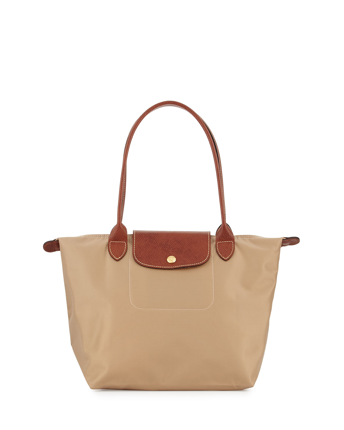 Longchamp Le Pliage Medium Shoulder Tote Bag, Beige   Neiman Marcus cbb9abae4e