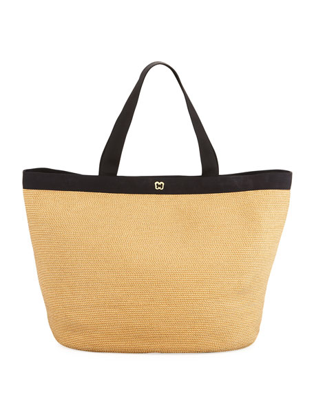 Eric Javits Dunemere Tote Bag, Natural/Black