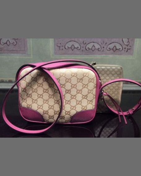 Gucci Bree Small Guccissima Leather Camera Crossbody Bag,