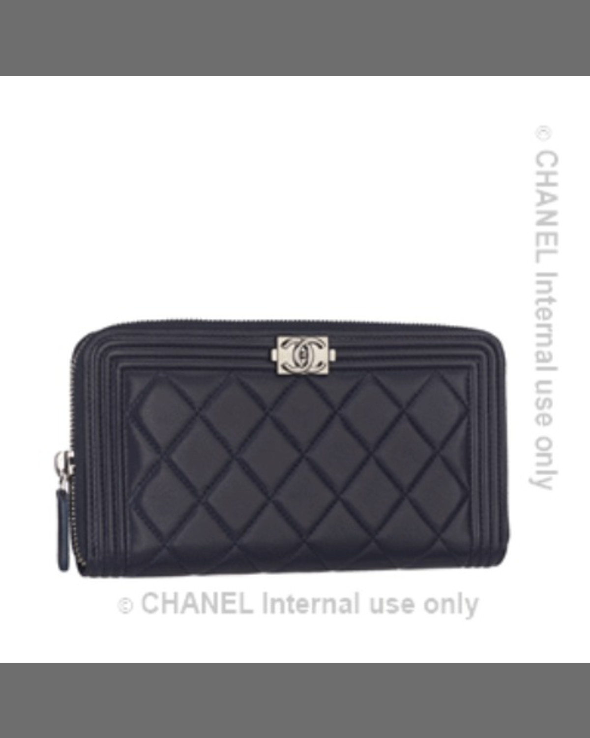 808dd5624ec73c Chanel Boy Quilted Medium Zip Around Wallet Black Neiman Marcus