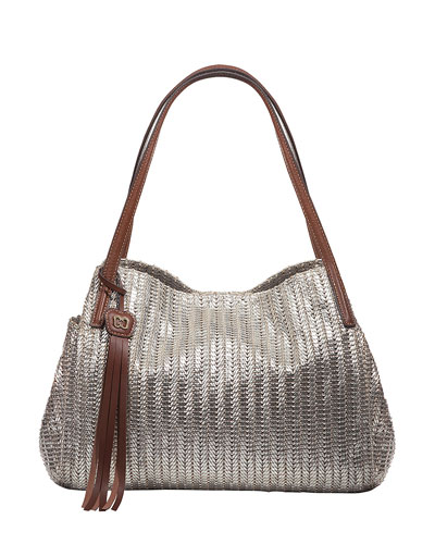 Aura Shoulder Bag w/Tassel, Gold