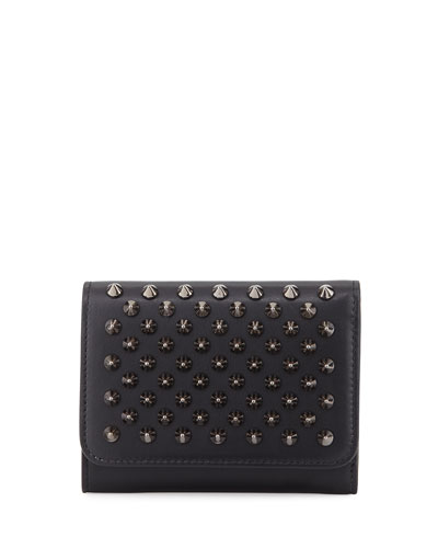 Macaron Mini Spiked Flap Wallet