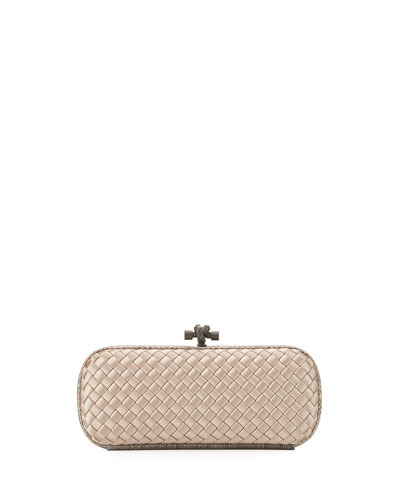 Knot Satin Elongated Minaudiere