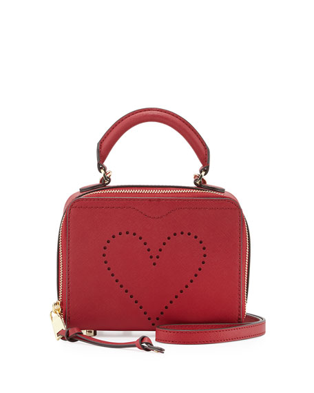 Love Perforated Box Crossbody Bag