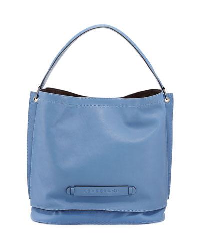 Longchamp 3D Leather Hobo Bag