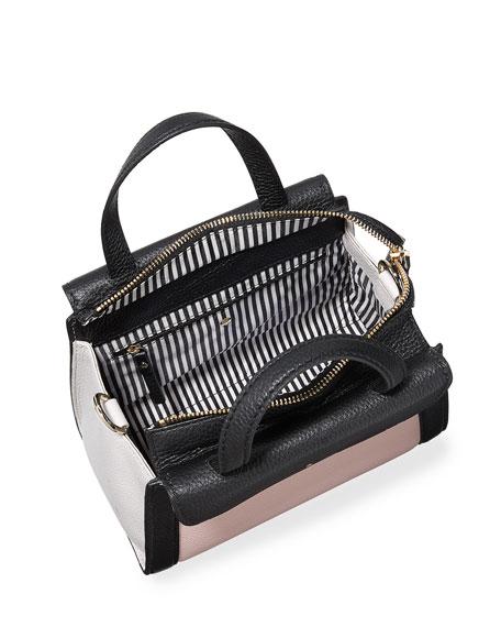 cobble hill adrien small satchel bag, pink granite/multi