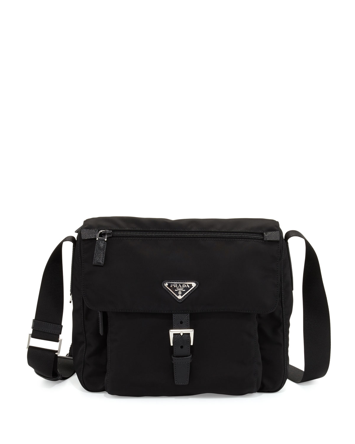80f29e173e8b Prada Small Nylon Crossbody Bag, Black (Nero) | Neiman Marcus