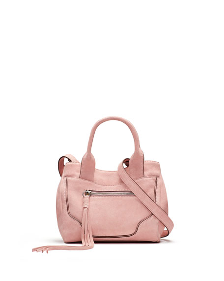 Andie Mini Suede Satchel Bag, Pink