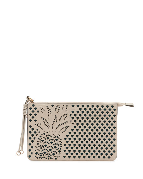 Chloe Myer Pineapple Leather Pouch, White