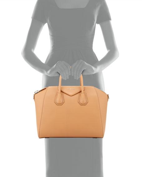 Antigona Medium Sugar Goatskin Satchel Bag