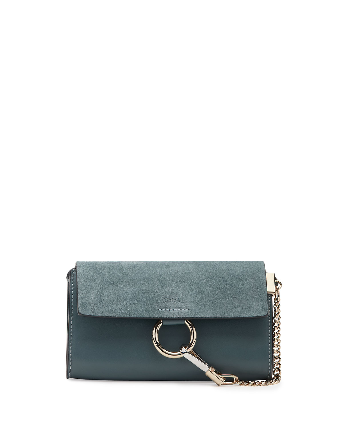 81a816519d79 Chloe Faye Suede Leather Wallet-on-a-Strap