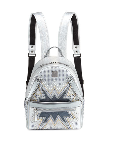MCM Dual Stark Cyber Studs Small Backpack