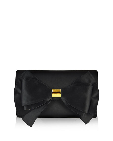 Judith Leiber Couture Beekman Satin Bow Evening Clutch