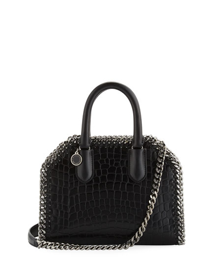 Stella McCartney Mini Alter Crocodile-Embossed Handbag