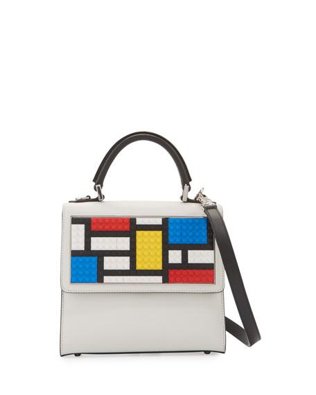 Les Petits Joueurs Mini Alex Mondrian Shoulder Bag,