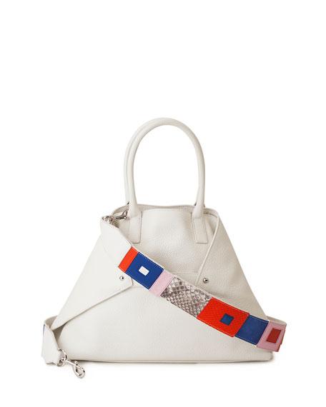 Akris Ai Small Tri-Color Messenger Bag