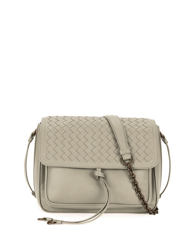 0d25592b7610 Bottega Veneta Medium Intrecciato Flap Tie-Front Shoulder Bag ...
