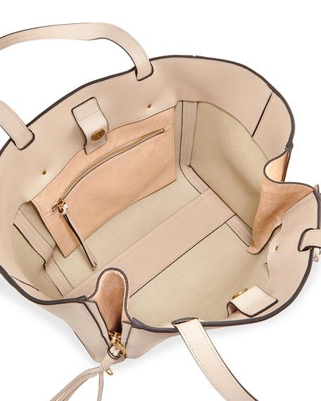 Milo Medium Leather & Suede Tote Bag
