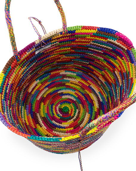 Image 3 of 4: Maxi Woven Straw Tote Bag