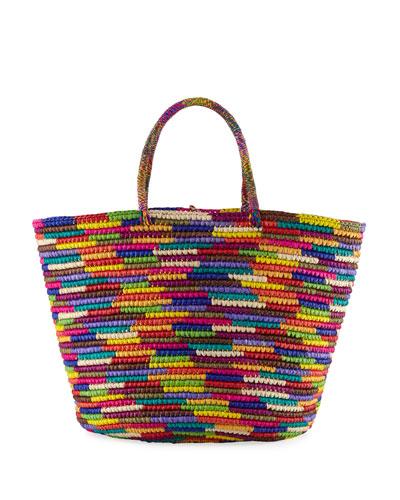 Maxi Woven Straw Tote Bag