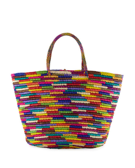 Image 1 of 4: Maxi Woven Straw Tote Bag