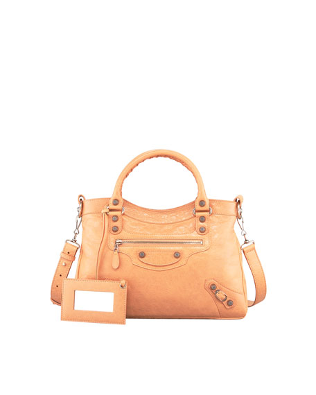 Giant 12 Rose Golden Town Bag, Rose Blush