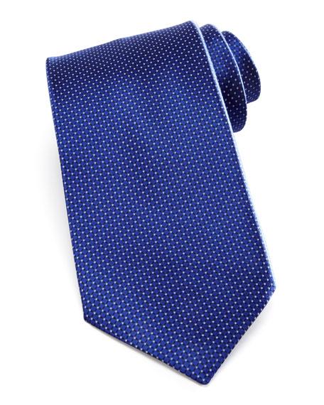 Micro-Neat Silk Tie, Blue