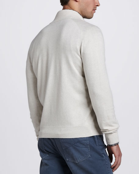 Cashmere Cardigan, Oatmeal