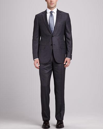 Plaid Trofeo 600 Suit, Charcoal/Bark
