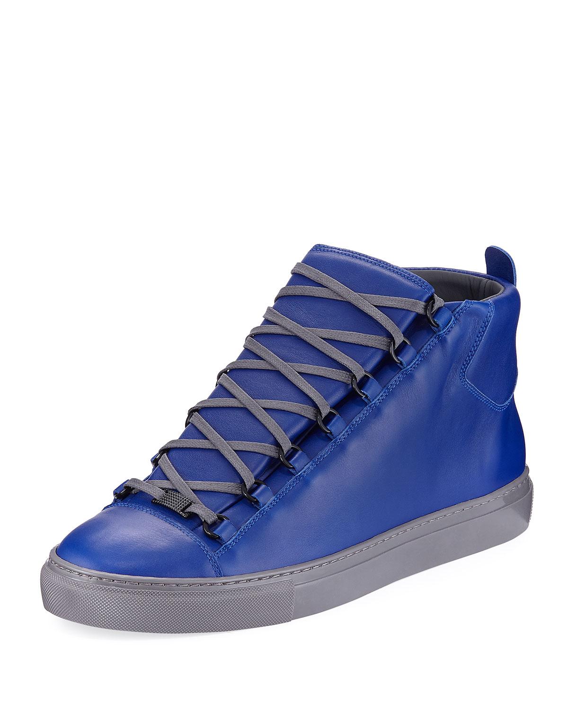 Balenciaga Arena Smooth Leather High-Top Sneakers a8b7788dd9ec
