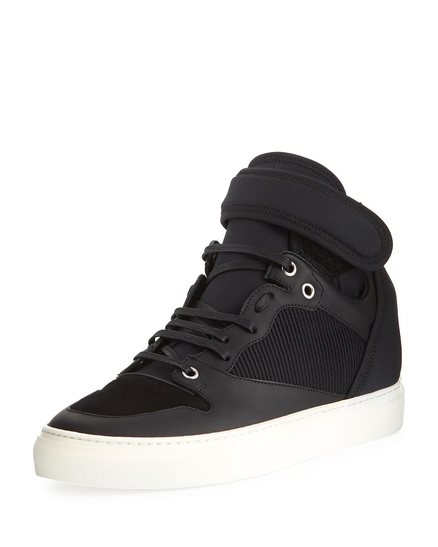 SneakerBlackNeiman Leather Balenciaga Top Marcus And High Neoprene zpMGqUVS