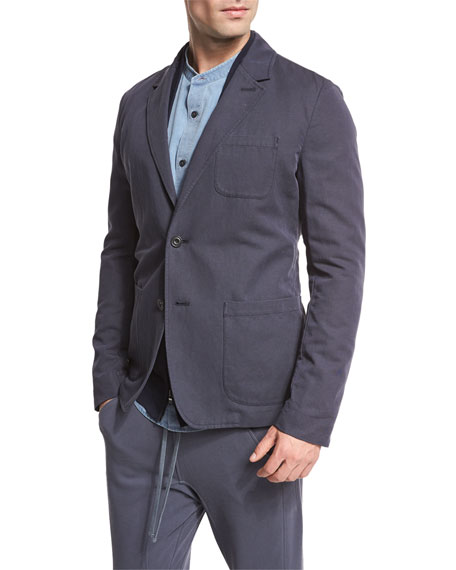Unstructured Sport Coat, Navy