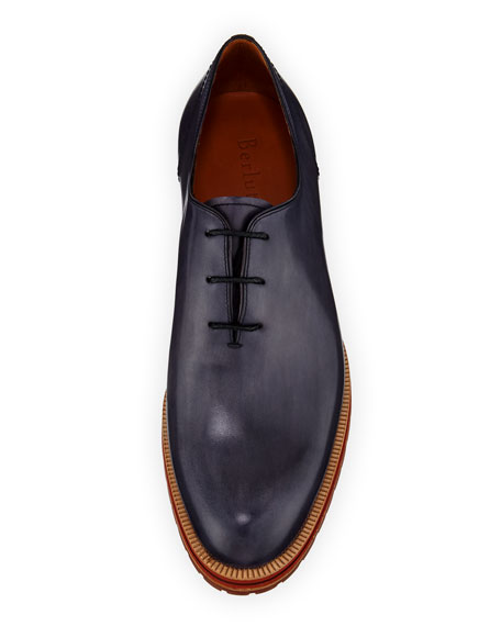 Berluti Leather Lace-Up Oxford