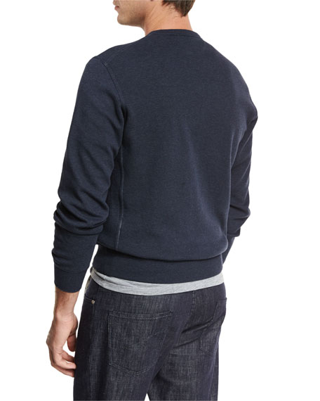 Cotton Crewneck Spa Sweatshirt