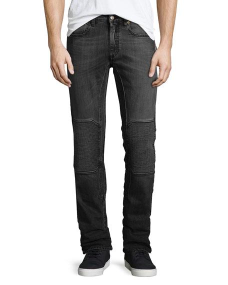 Belstaff Blackrod Moto-Style Slim-Fit Jeans, Blue