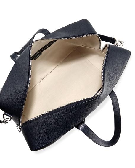 T Line Men's Grained Leather Weekender Bag