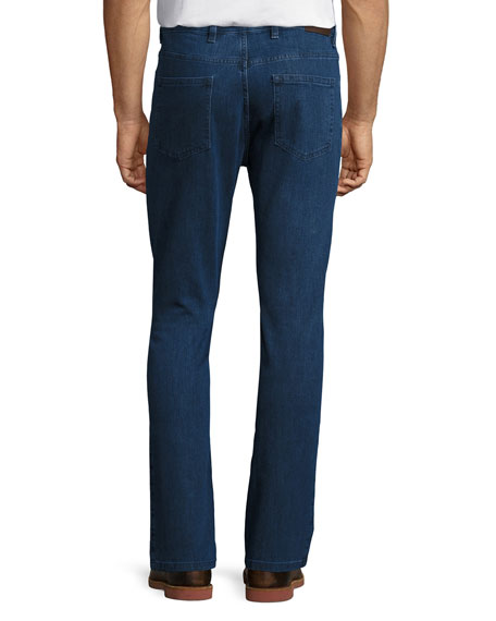 Ermenegildo Zegna Stretch-Denim Straight-Leg Jeans