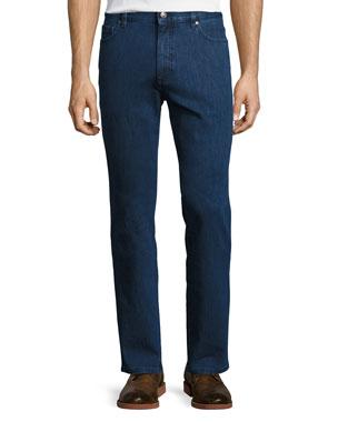 bd373813723 Ermenegildo Zegna Stretch-Denim Straight-Leg Jeans