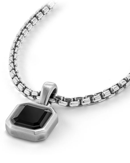 Men's Emerald-Cut Onyx Amulet