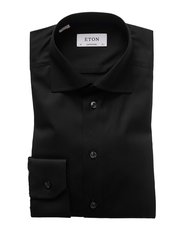 Eton Contemporary Fit Twill Dress Shirt Neiman Marcus