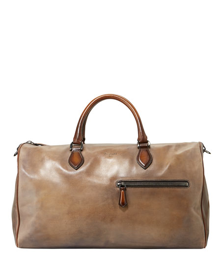 Berluti Jour-Off MM Large Leather Duffel Bag