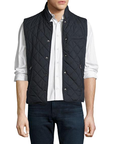 Ralph Lauren Diamond-Quilted Vest, Navy : quilted vest navy - Adamdwight.com