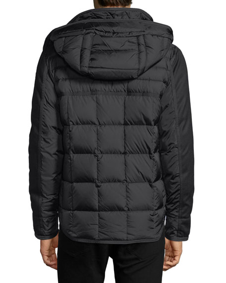 Ryan Mixed-Media Down Jacket