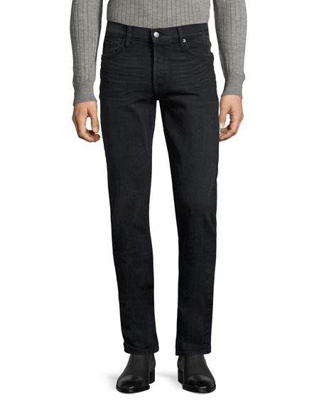 TOM FORD Straight-Fit Denim Jeans, Worn Black