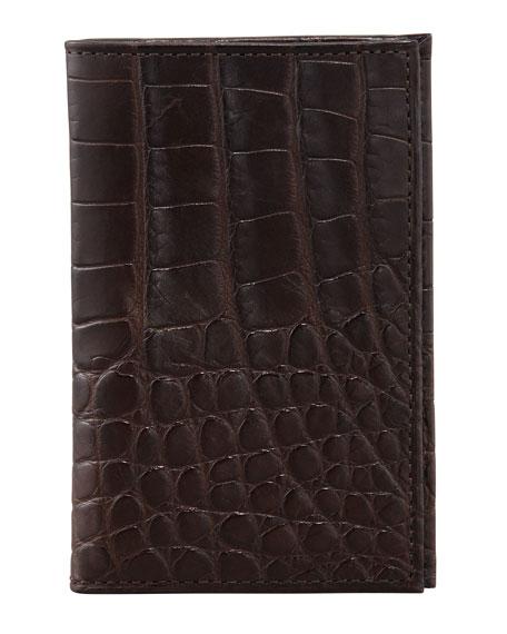 Neiman Marcus Slim Alligator Credit Card Case
